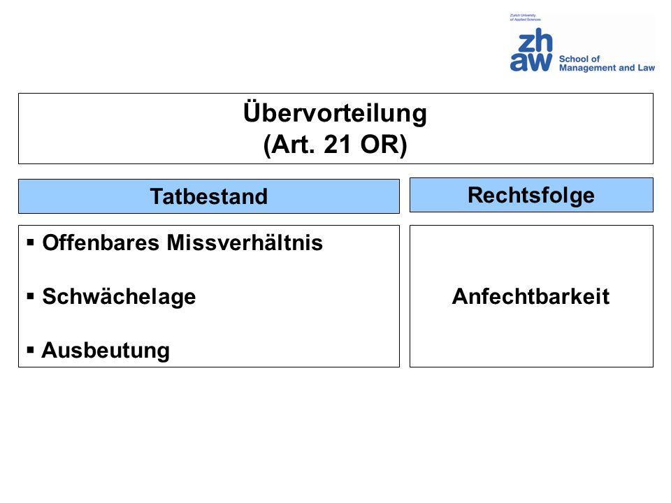 Übervorteilung (Art. 21 OR)