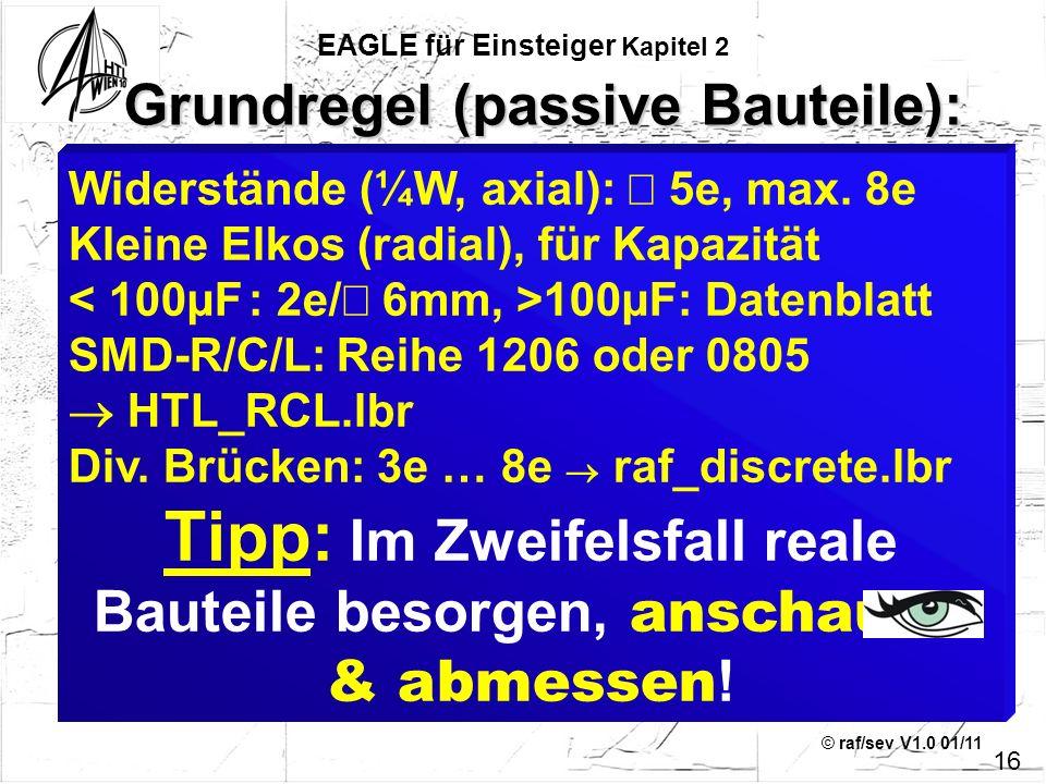 Grundregel (passive Bauteile):