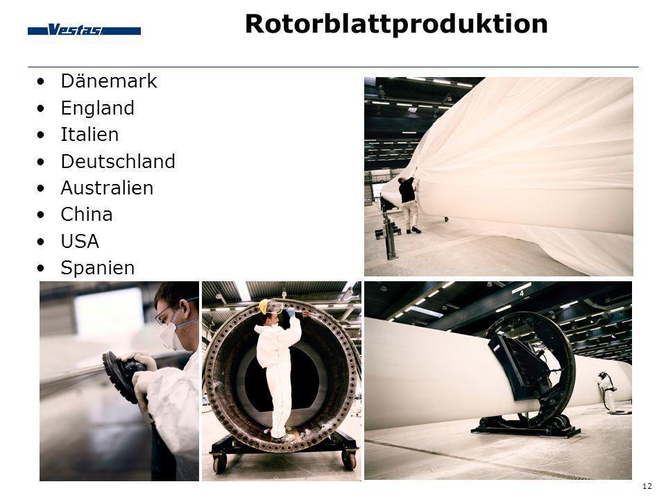 Rotorblattproduktion