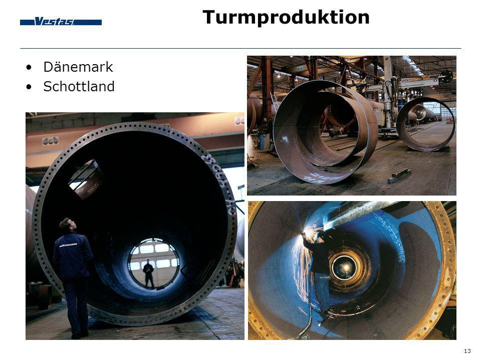 Turmproduktion Dänemark Schottland Tower production: