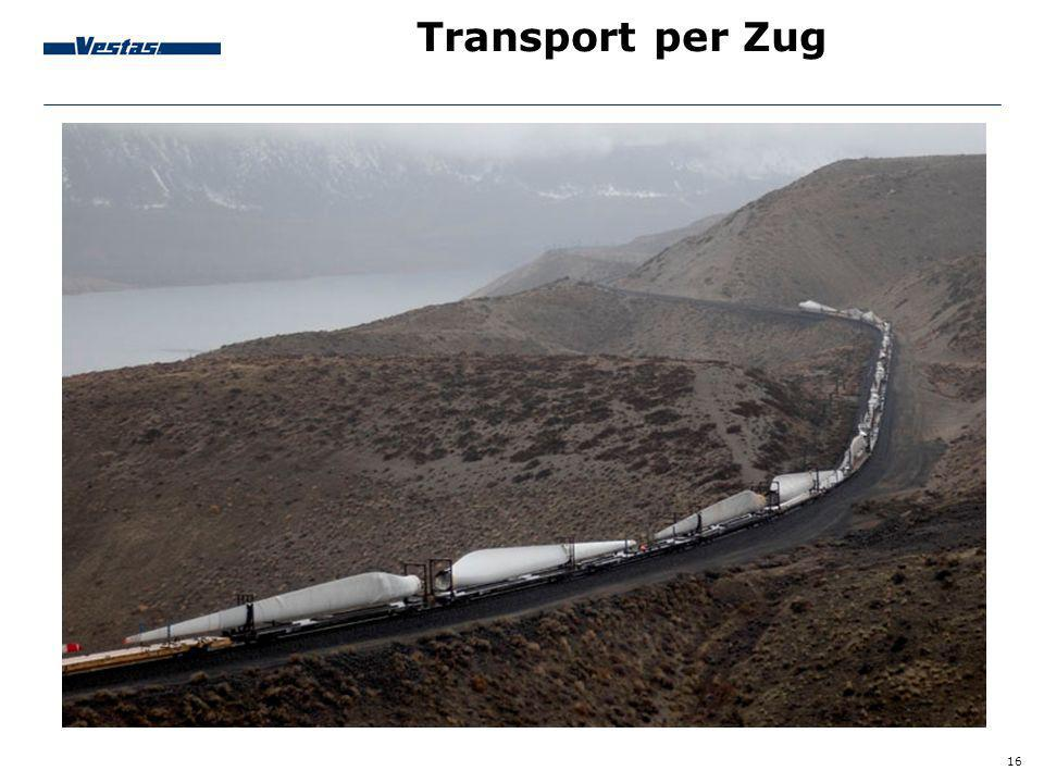 Transport per Zug