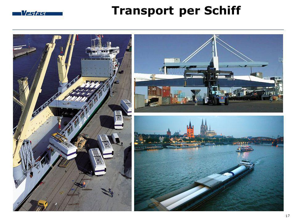 Transport per Schiff