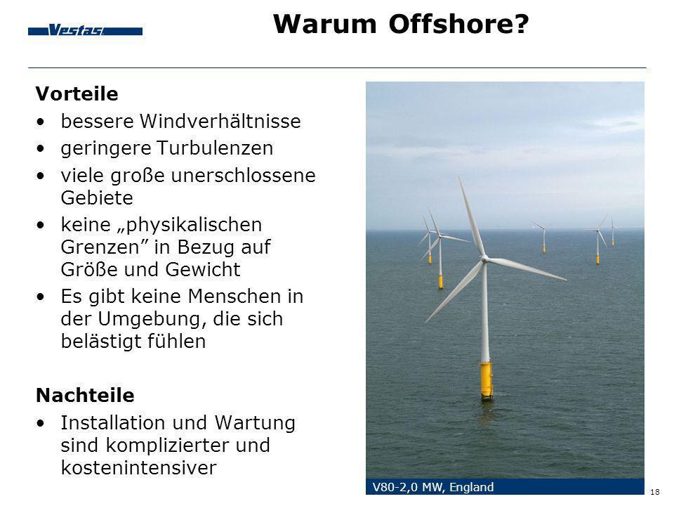 Warum Offshore Vorteile bessere Windverhältnisse