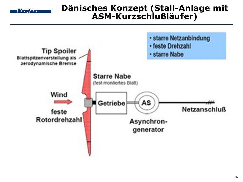 Dänisches Konzept (Stall-Anlage mit ASM-Kurzschlußläufer)