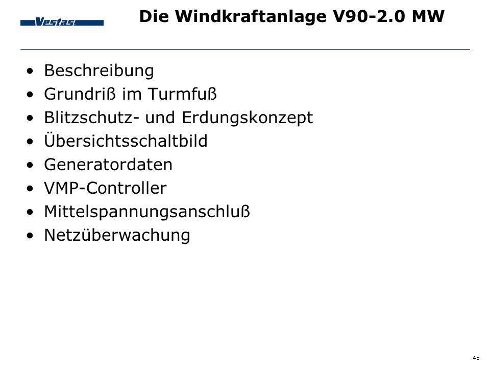 Die Windkraftanlage V90-2.0 MW