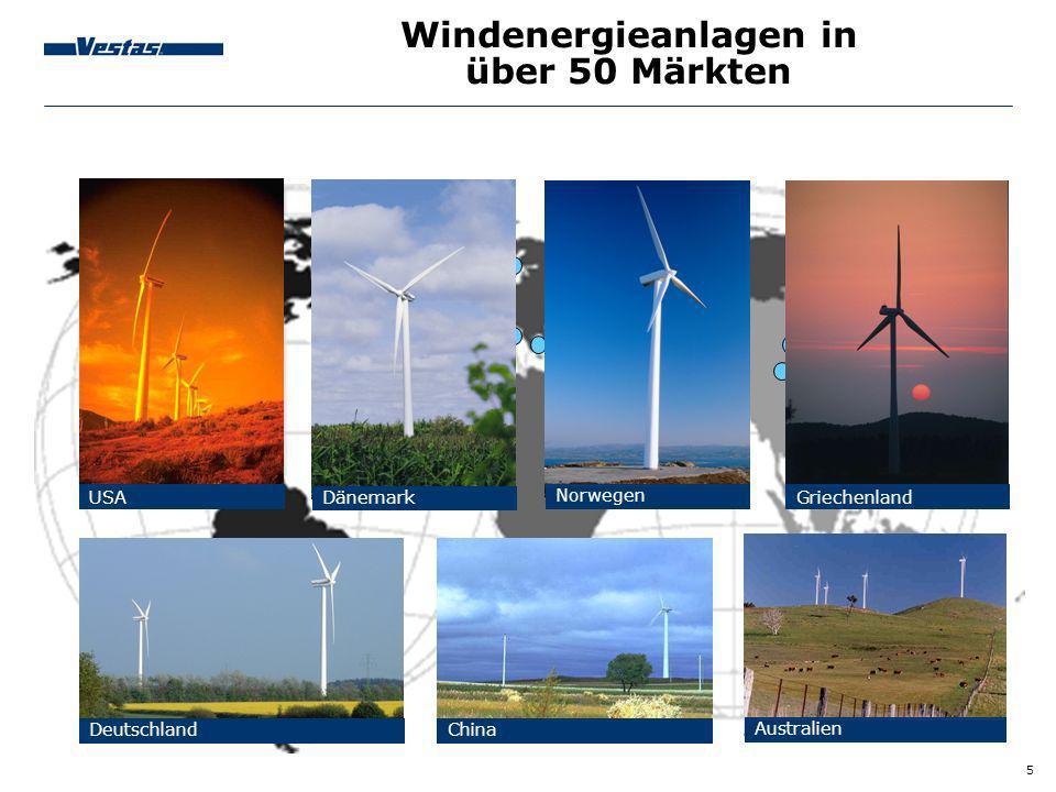 Windenergieanlagen in über 50 Märkten
