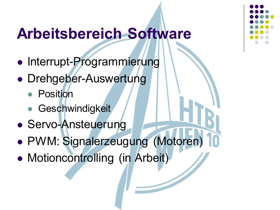 Arbeitsbereich Software