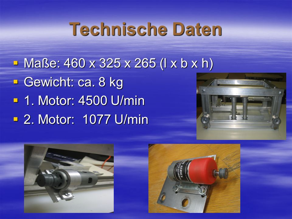 Technische Daten Maße: 460 x 325 x 265 (l x b x h) Gewicht: ca. 8 kg