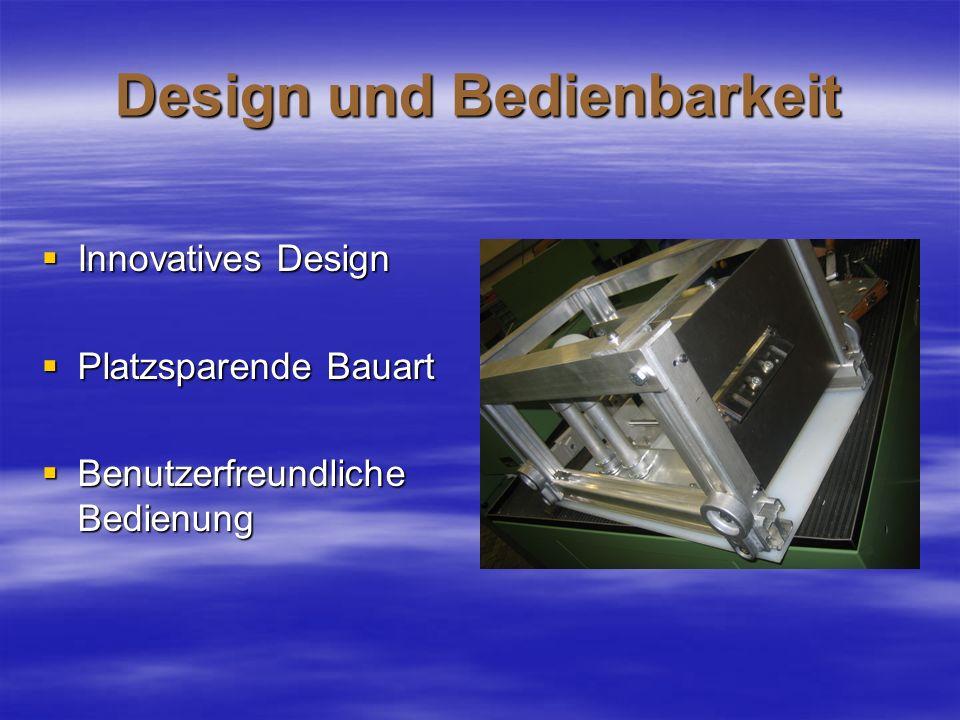 Design und Bedienbarkeit