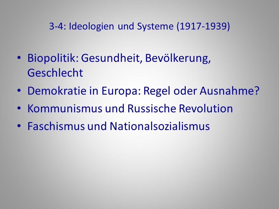 3-4: Ideologien und Systeme (1917-1939)