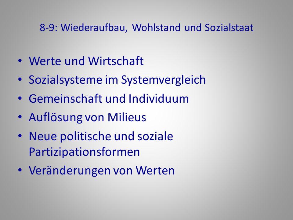 8-9: Wiederaufbau, Wohlstand und Sozialstaat
