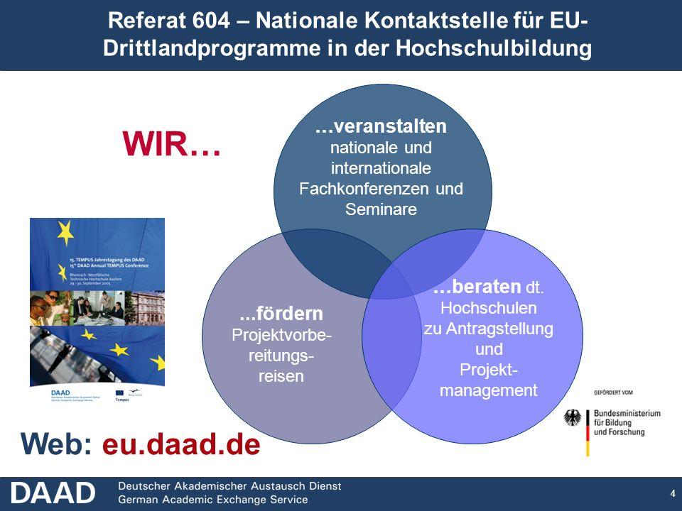 Referat 604 – Nationale Kontaktstelle für EU- Drittlandprogramme in der Hochschulbildung