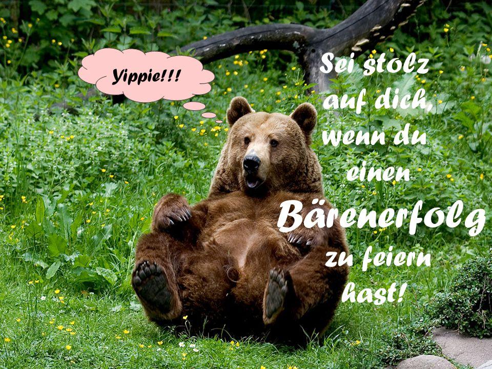Sei stolz auf dich, wenn du einen zu feiern hast! Bärenerfolg