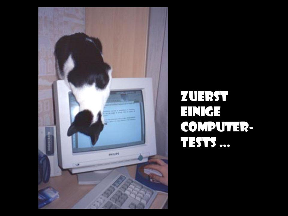Zuerst einige computer-tests …