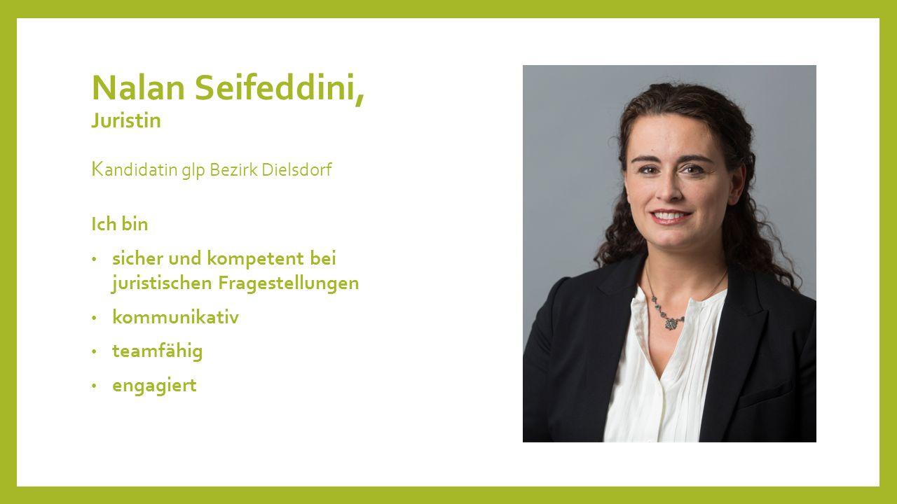 Nalan Seifeddini, Juristin Kandidatin glp Bezirk Dielsdorf