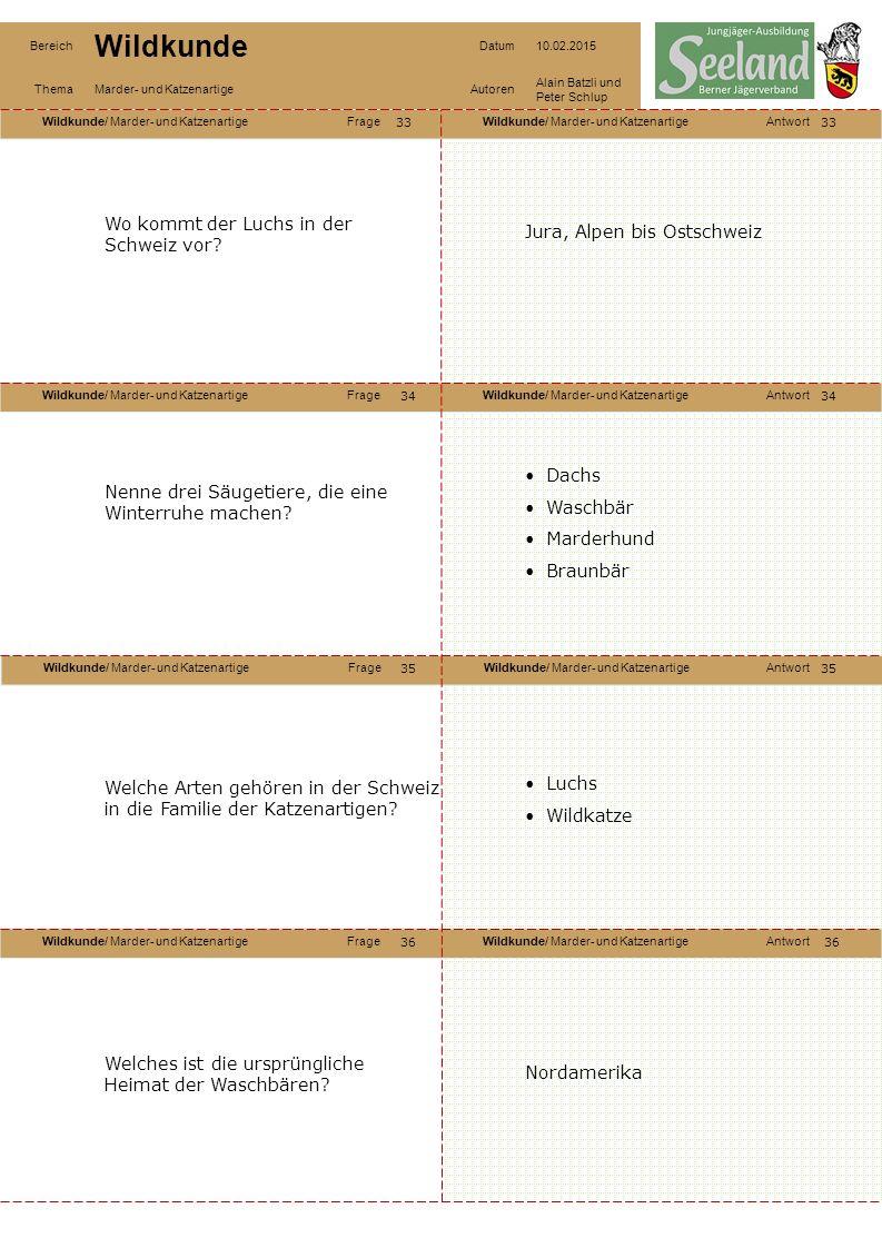 Wo kommt der Luchs in der Schweiz vor Jura, Alpen bis Ostschweiz