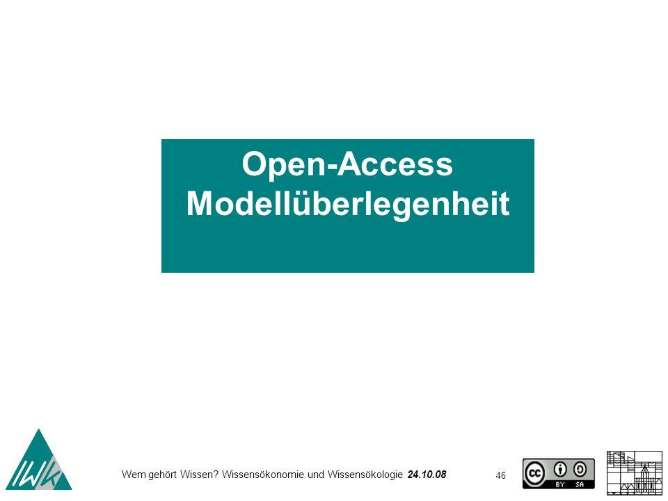 Open-Access Modellüberlegenheit
