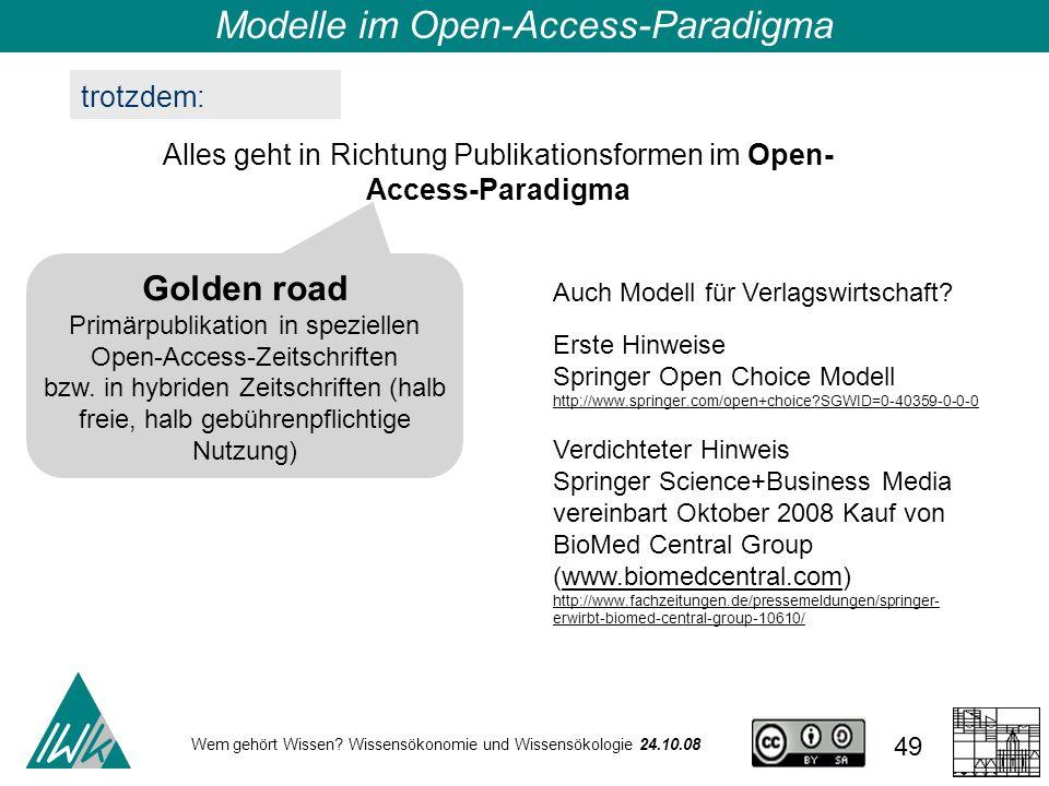 Modelle im Open-Access-Paradigma