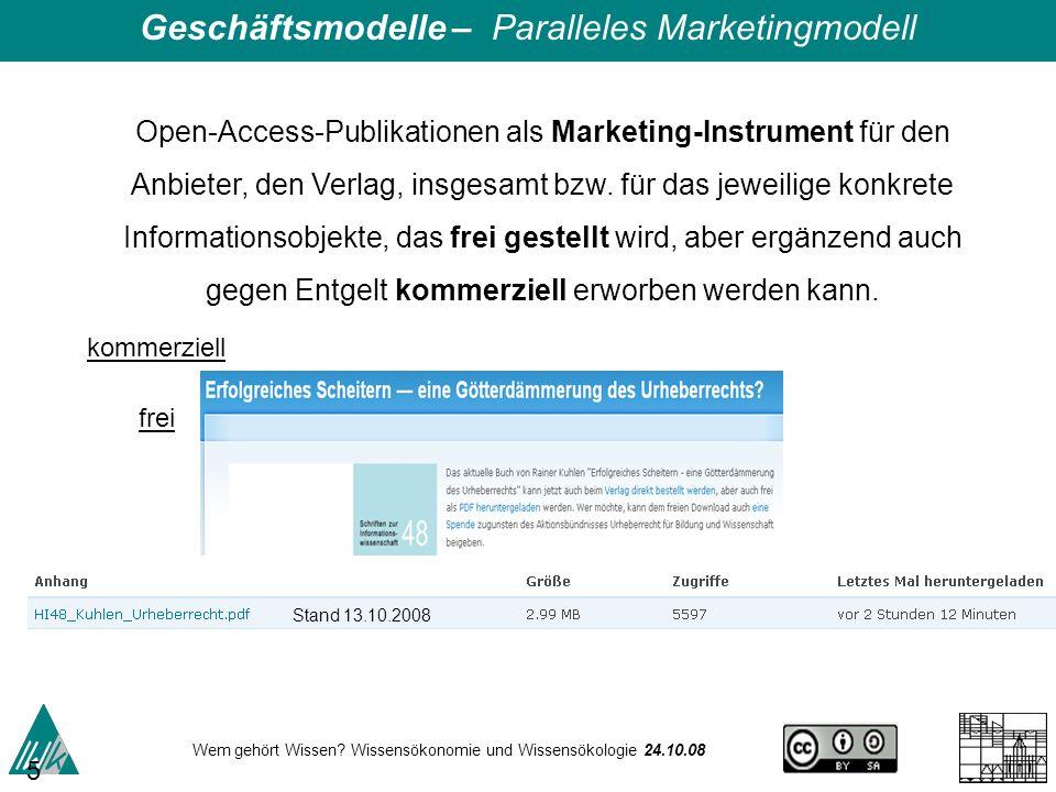 Geschäftsmodelle – Paralleles Marketingmodell
