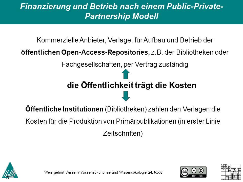 Finanzierung und Betrieb nach einem Public-Private-Partnership Modell