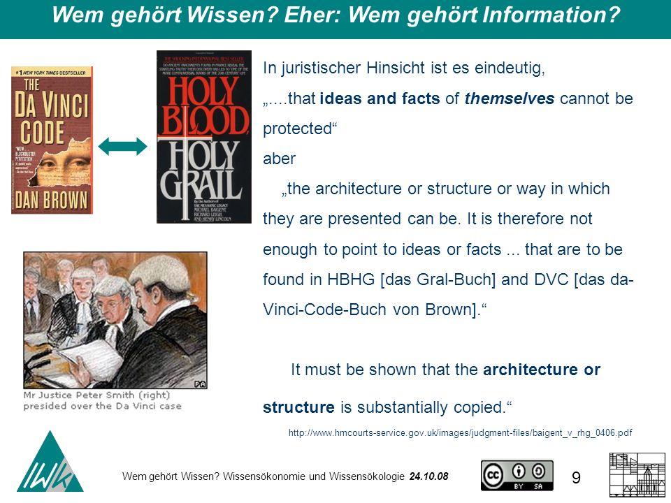 Wem gehört Wissen Eher: Wem gehört Information