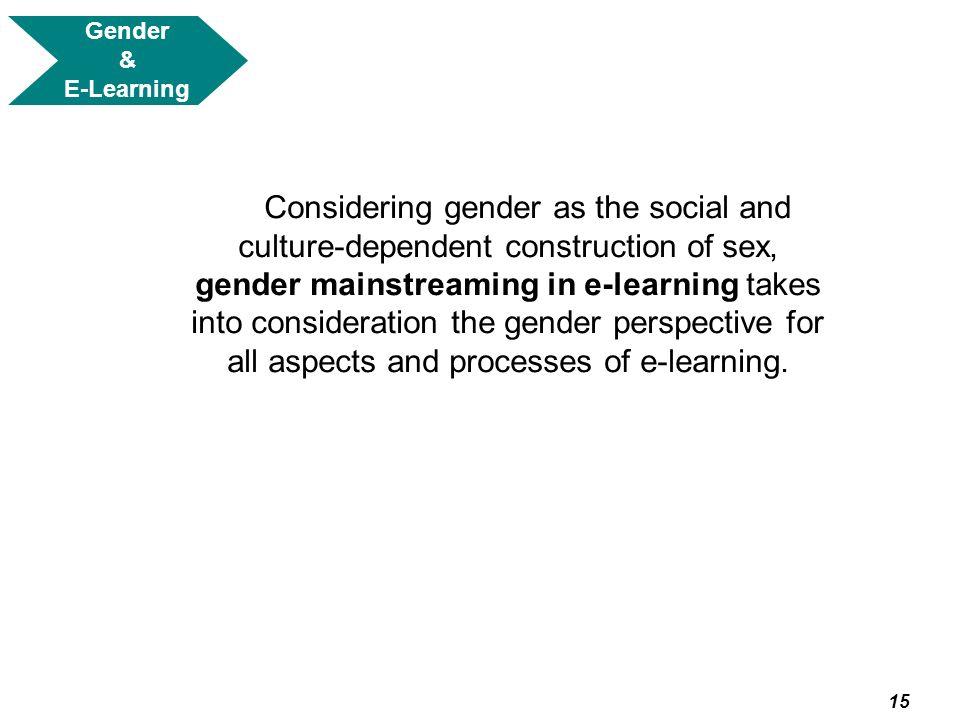 Gender & E-Learning.