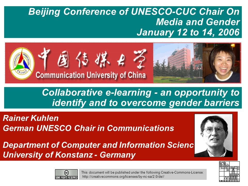 Beijing Conference of UNESCO-CUC Chair On Media and Gender
