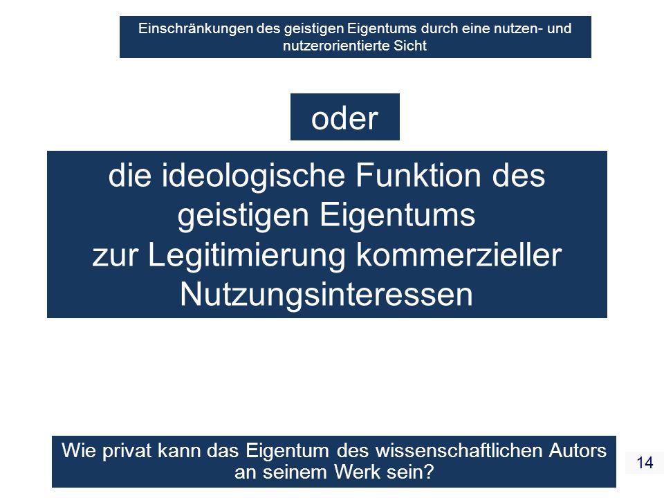 die ideologische Funktion des geistigen Eigentums