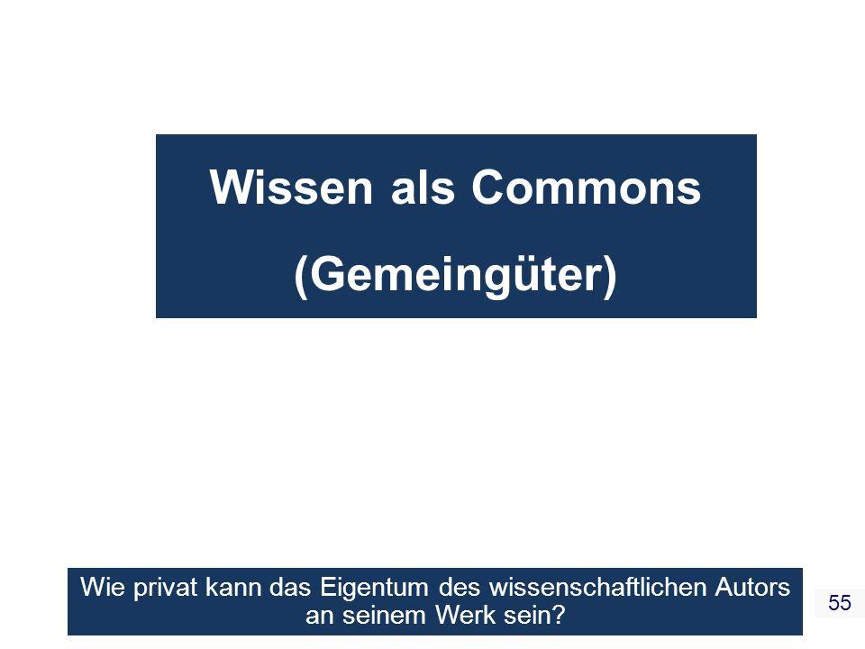 Wissen als Commons (Gemeingüter)