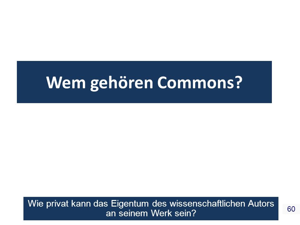 Wem gehören Commons