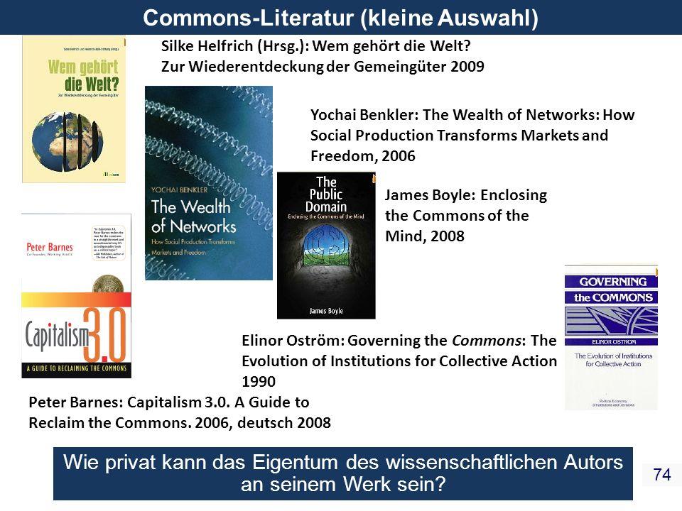 Commons-Literatur (kleine Auswahl)