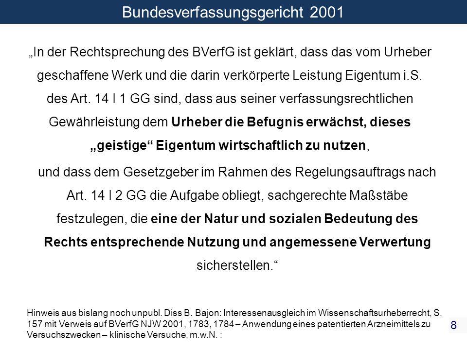 Bundesverfassungsgericht 2001