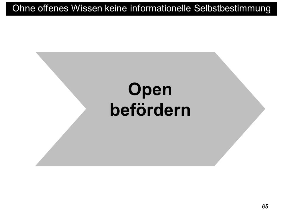 Open befördern