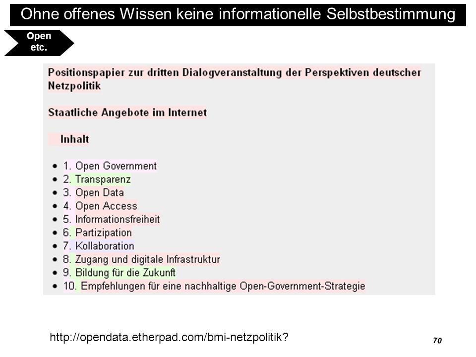 Open etc. http://opendata.etherpad.com/bmi-netzpolitik