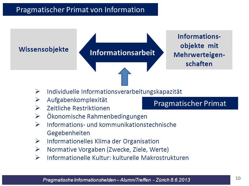 Informations-objekte mit Mehrwerteigen-schaften