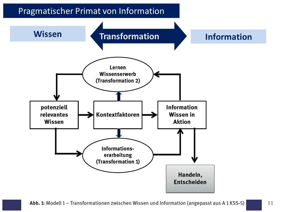 Pragmatischer Primat von Information