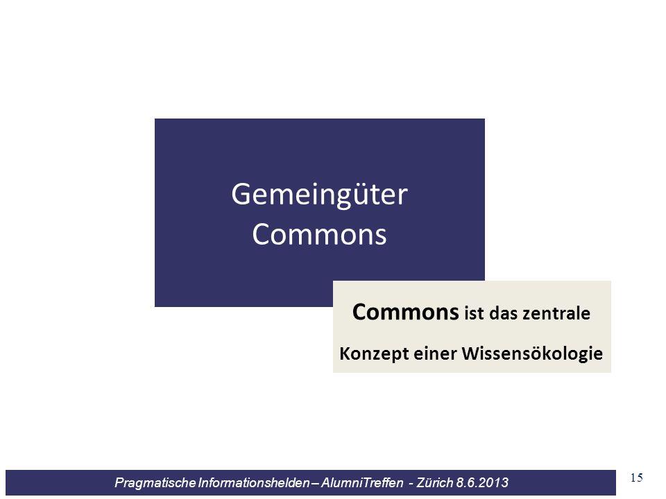 Commons ist das zentrale Konzept einer Wissensökologie
