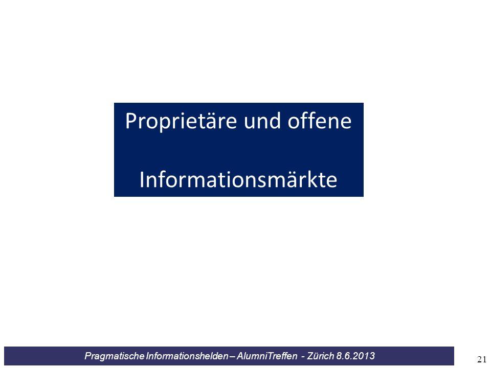 Proprietäre und offene Informationsmärkte