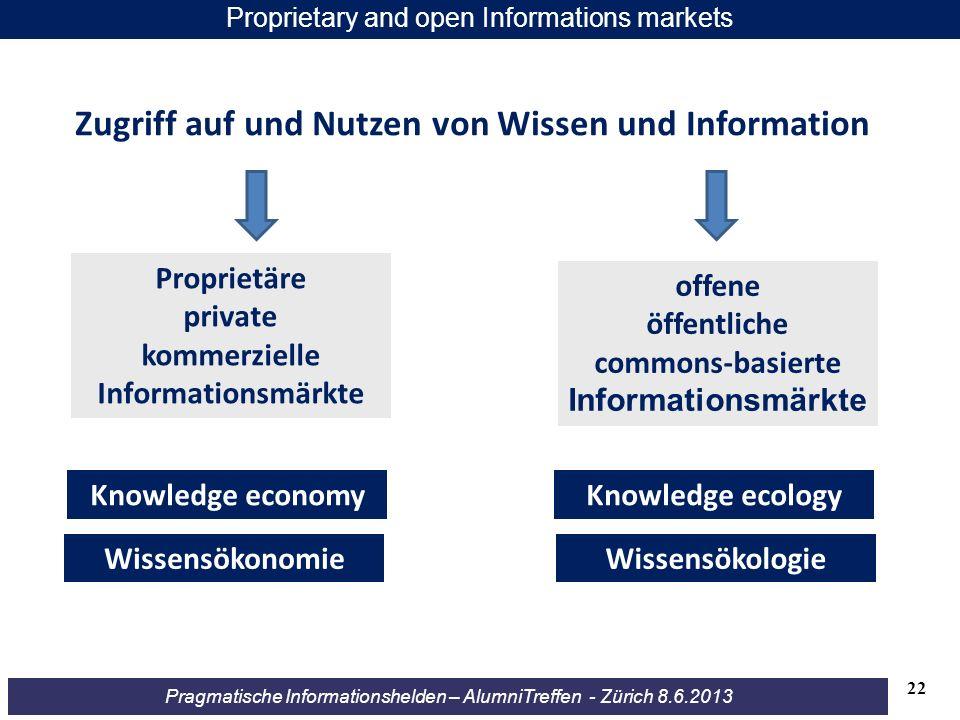 Zugriff auf und Nutzen von Wissen und Information