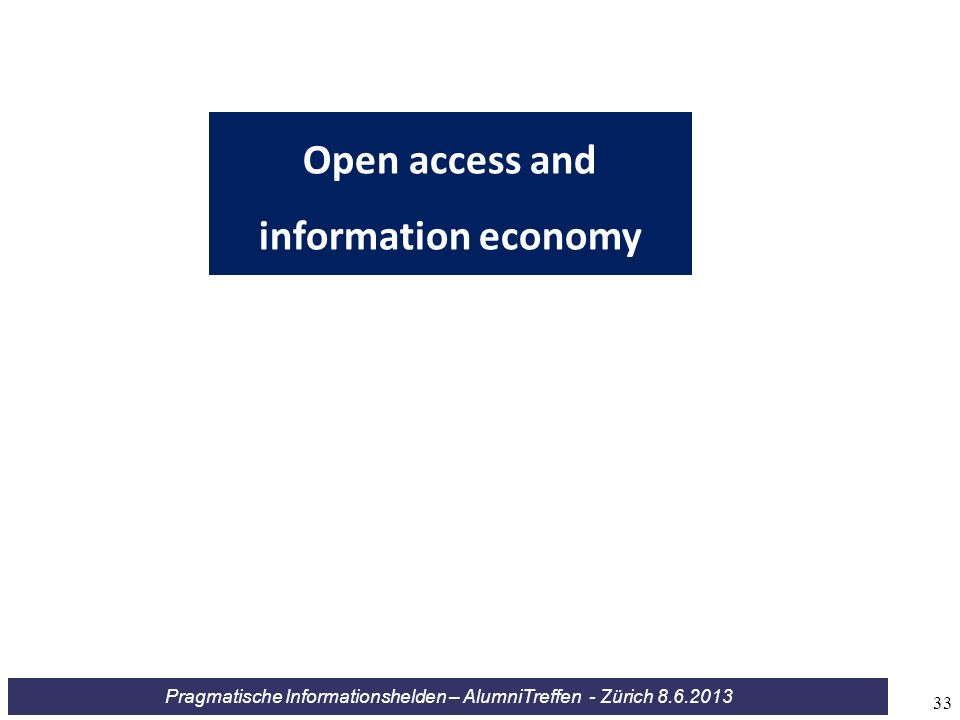 Open access and information economy