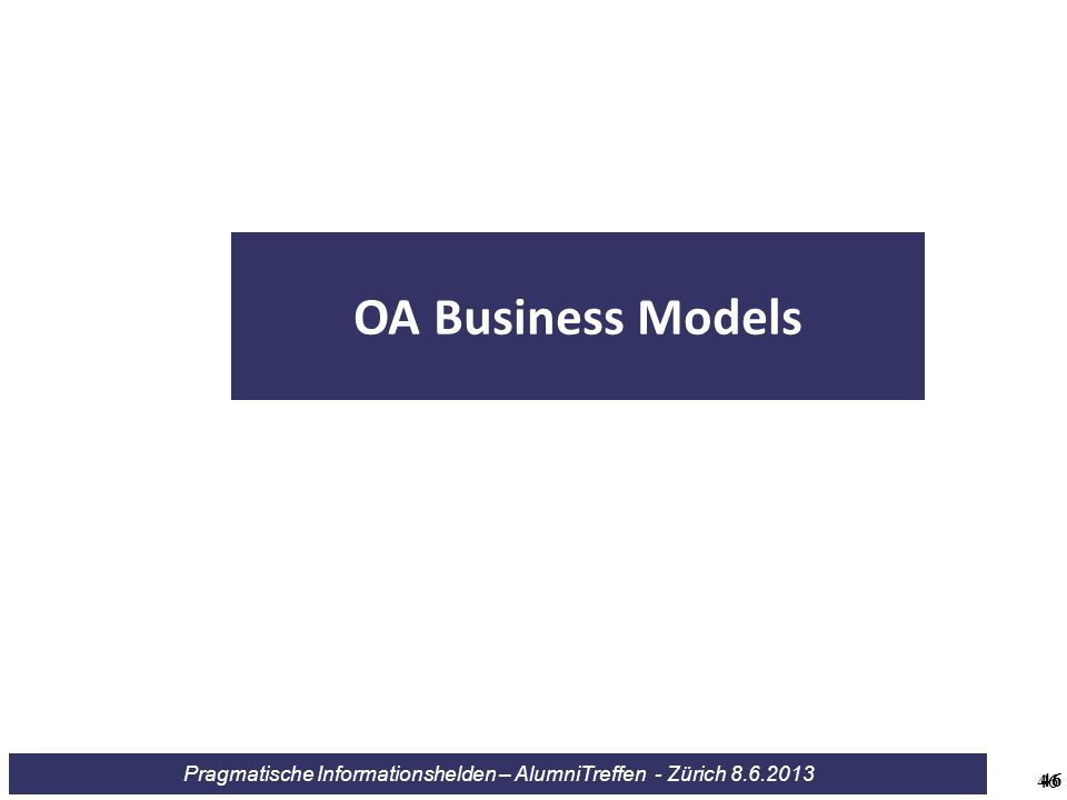 OA Business Models 46