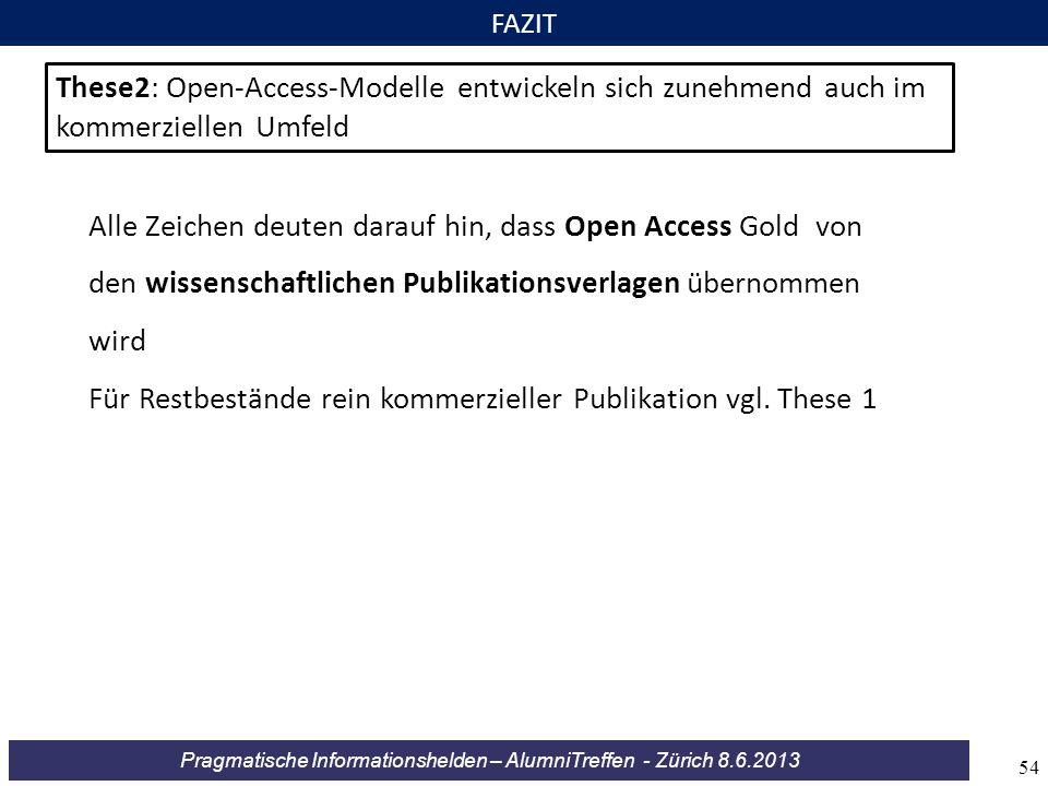 Für Restbestände rein kommerzieller Publikation vgl. These 1