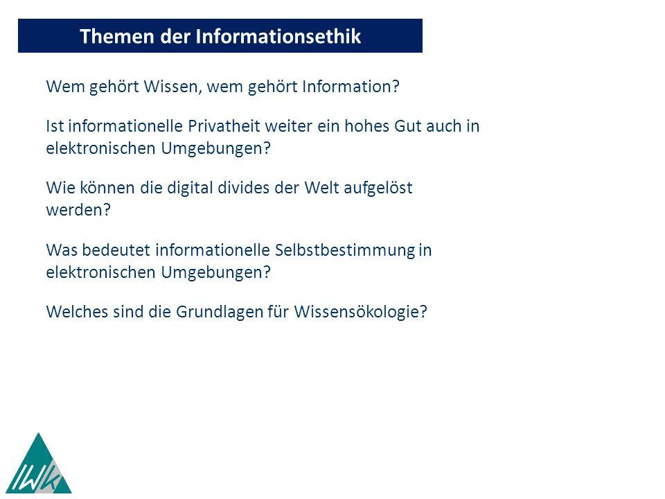 Themen der Informationsethik