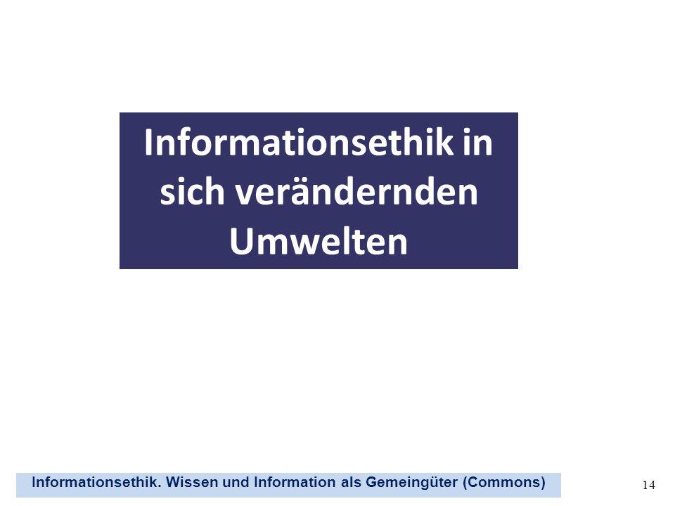Informationsethik in sich verändernden Umwelten