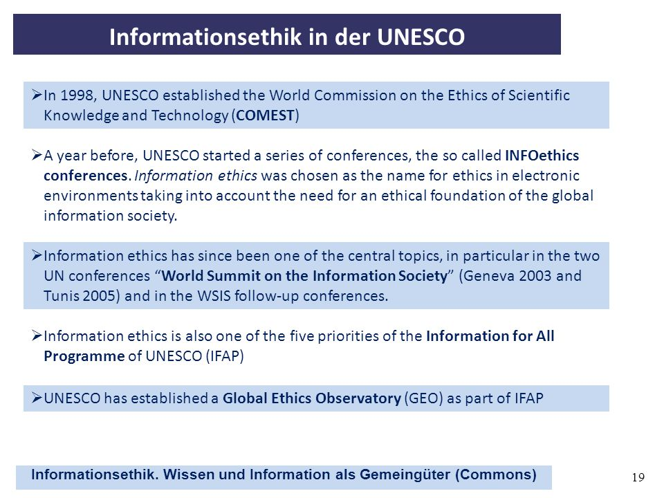 Informationsethik in der UNESCO
