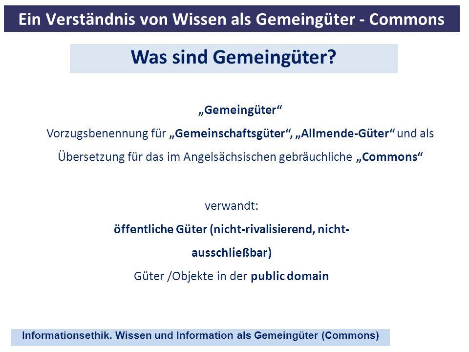 Ein Verständnis von Wissen als Gemeingüter - Commons