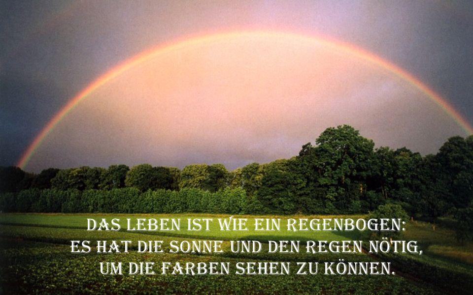 Das Leben ist wie ein Regenbogen: