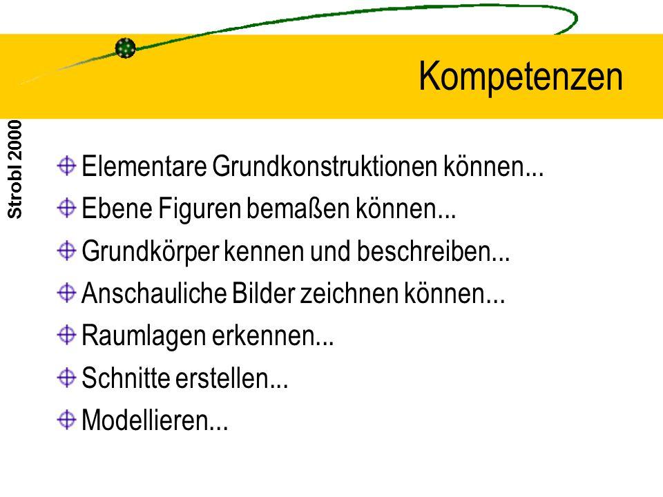 Kompetenzen Elementare Grundkonstruktionen können...