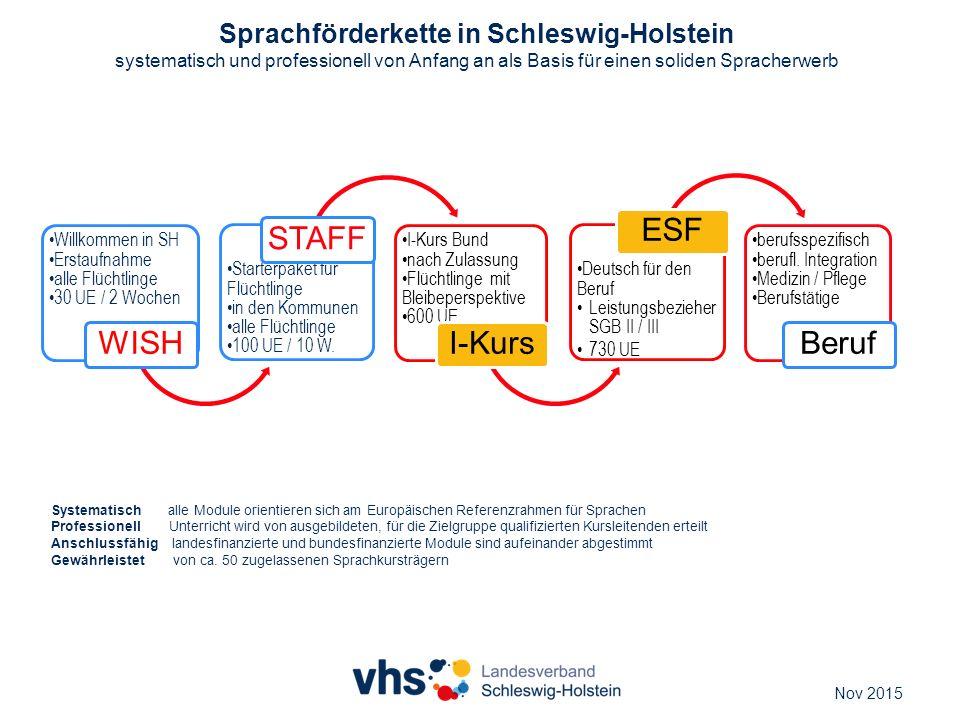 Sprachförderkette in Schleswig-Holstein systematisch und professionell von Anfang an als Basis für einen soliden Spracherwerb