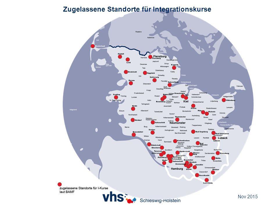 Zugelassene Standorte für Integrationskurse